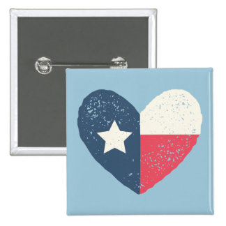 Texas Heart Flag Pin w/TEXAS