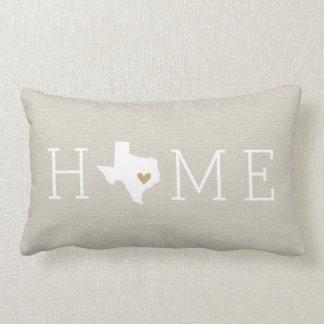 Texas Heart Home State Throw Pillow