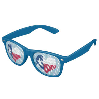 Texas Heart Shaped Flag Retro Sunglasses