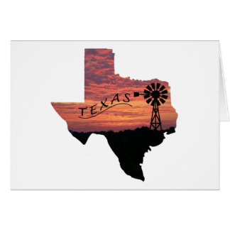 Texas Hill Country Sunrise Card