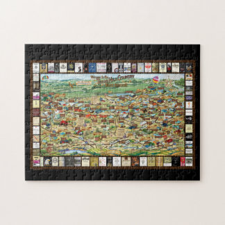 Texas Hill Country Wine Trail Map Puzzle