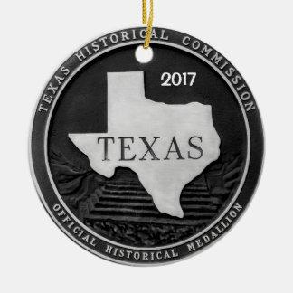 Texas Historical Medallion Ceramic Ornament