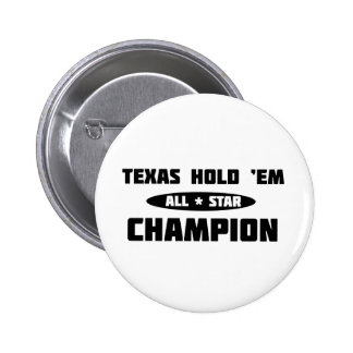 Texas Hold 'Em Champion 2 Inch Round Button