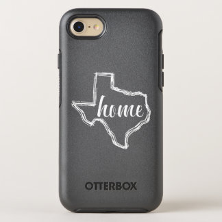 Texas Home State Outline Map OtterBox Symmetry iPhone 7 Case