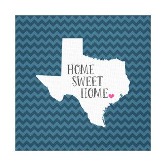 Texas Home Sweet Home Modern Chevron Canvas Print