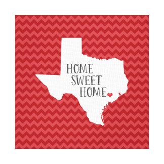 Texas Home Sweet Home Modern Chevron Canvas Prints