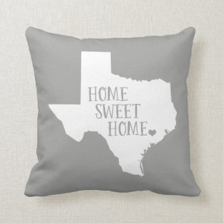Texas Home Sweet Home State Throw Pillow