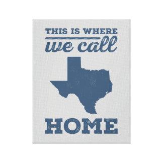 Texas Home Wall Art - Blue Canvas Print