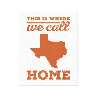 Texas Home Wall Art - Burnt Orange Canvas Prints