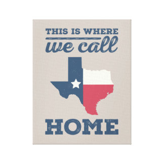 Texas Home Wall Art Gallery Wrapped Canvas