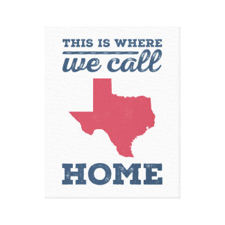 Texas Home Wall Art - Red and Blue Canvas Print