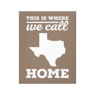 Texas Home Wall Art - White Canvas Print