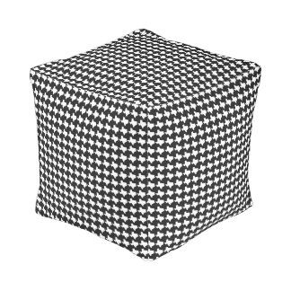 Texas Houndstooth!  Black & White Pouf