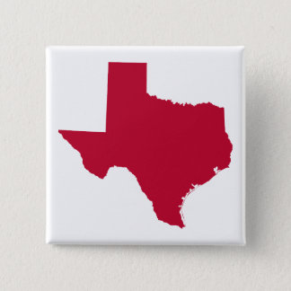 Texas in Red 2 Inch Square Button