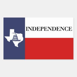 Texas Independence - Lone Star Flag Gadsden Sticker