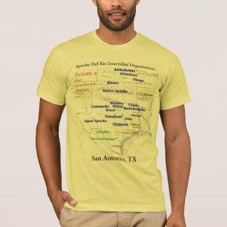 Texas Indian Map 2, Apache Del Rio Intertribal ... T-Shirt