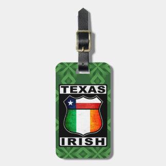 Texas Irish American Baggage Tag