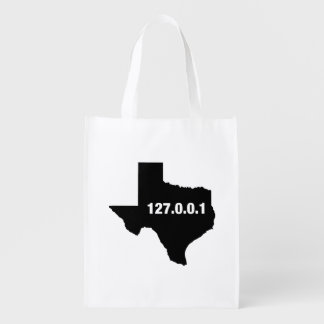 Texas Is Home Programmer Reusable Grocery Bag