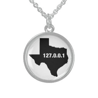 Texas Is Home Programmer Sterling Silver Necklace