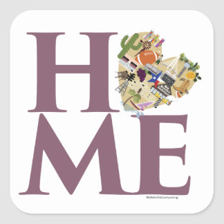 Texas is Home Square Stickers