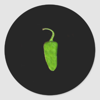 Texas Jalapeno Pepper 1 .jpg Classic Round Sticker