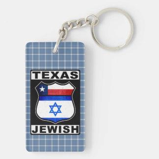 Texas Jewish American Keyring