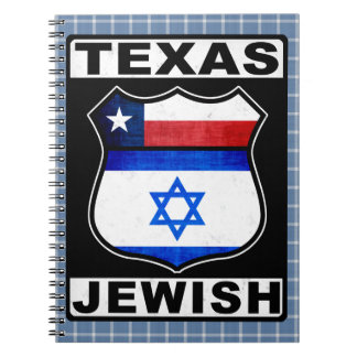 Texas Jewish American Notepad Spiral Note Books