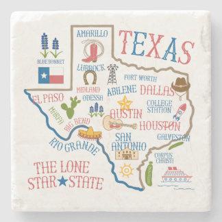 Texas Landmarks Art Stone Coaster