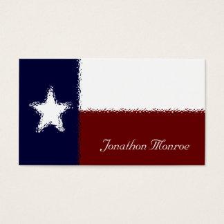 Texas Lone Star Flag Glass Effect Texan Business Card