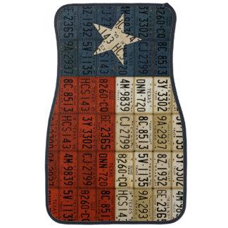 Texas Lone Star State License Plate Flag Art Car Mat