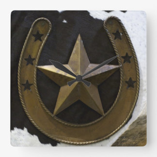 Texas Lone Star Wall Clock