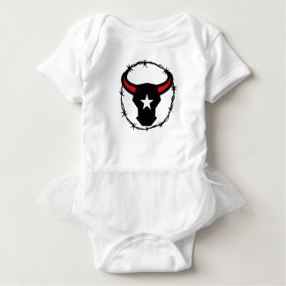 Texas Longhorn Barbed Wire Icon Baby Bodysuit