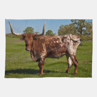 Texas Longhorn Kitchen Towel