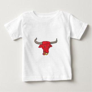 Texas Longhorn Red Bull Drawing Baby T-Shirt