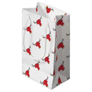 Texas Longhorn Red Bull Drawing Small Gift Bag