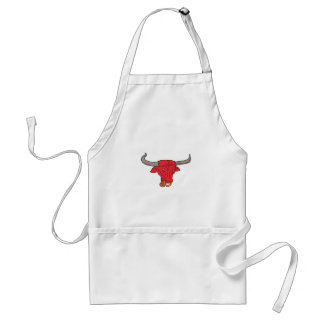 Texas Longhorn Red Bull Drawing Standard Apron