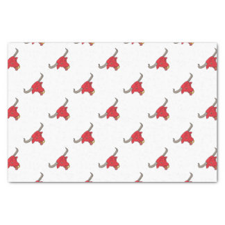 Texas Longhorn Red Bull Drawing Tissue Paper