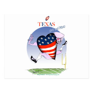 texas loud and proud, tony fernandes postcard