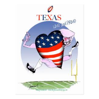 texas loud and proud, tony fernandes postcard