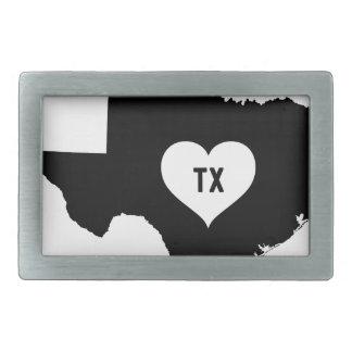 Texas Love Rectangular Belt Buckle