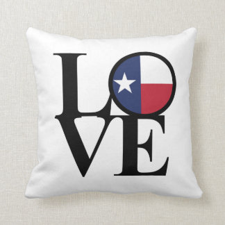 Texas LOVE Throw Pillow