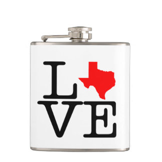 Texas Love Vinyl Wrapped Flask
