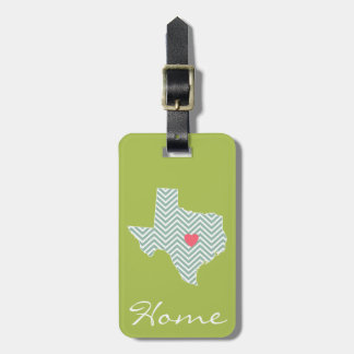 Texas Love with Custom Heart and Family Name Luggage Tag