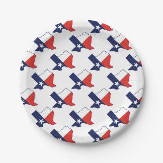 TEXAS MAP 7 INCH PAPER PLATE
