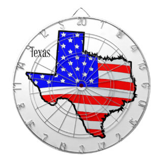 Texas Map and Flag Dartboards