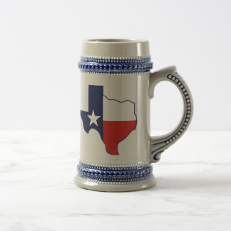 TEXAS MAP BEER STEIN