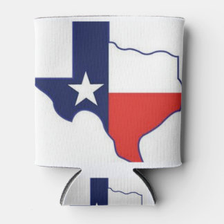 TEXAS MAP CAN COOLER