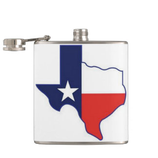 TEXAS MAP FLASKS