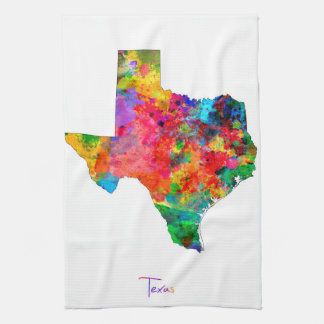 Texas Map Hand Towels