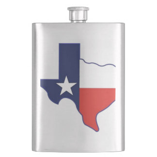TEXAS MAP HIP FLASK